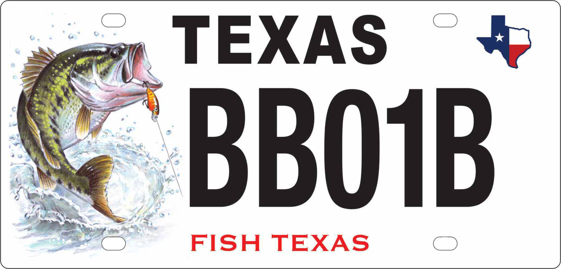 Texas Largemouth Bass License Plate