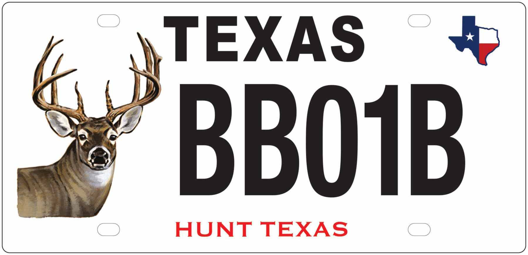 Texas White-tailed Deer License Plate