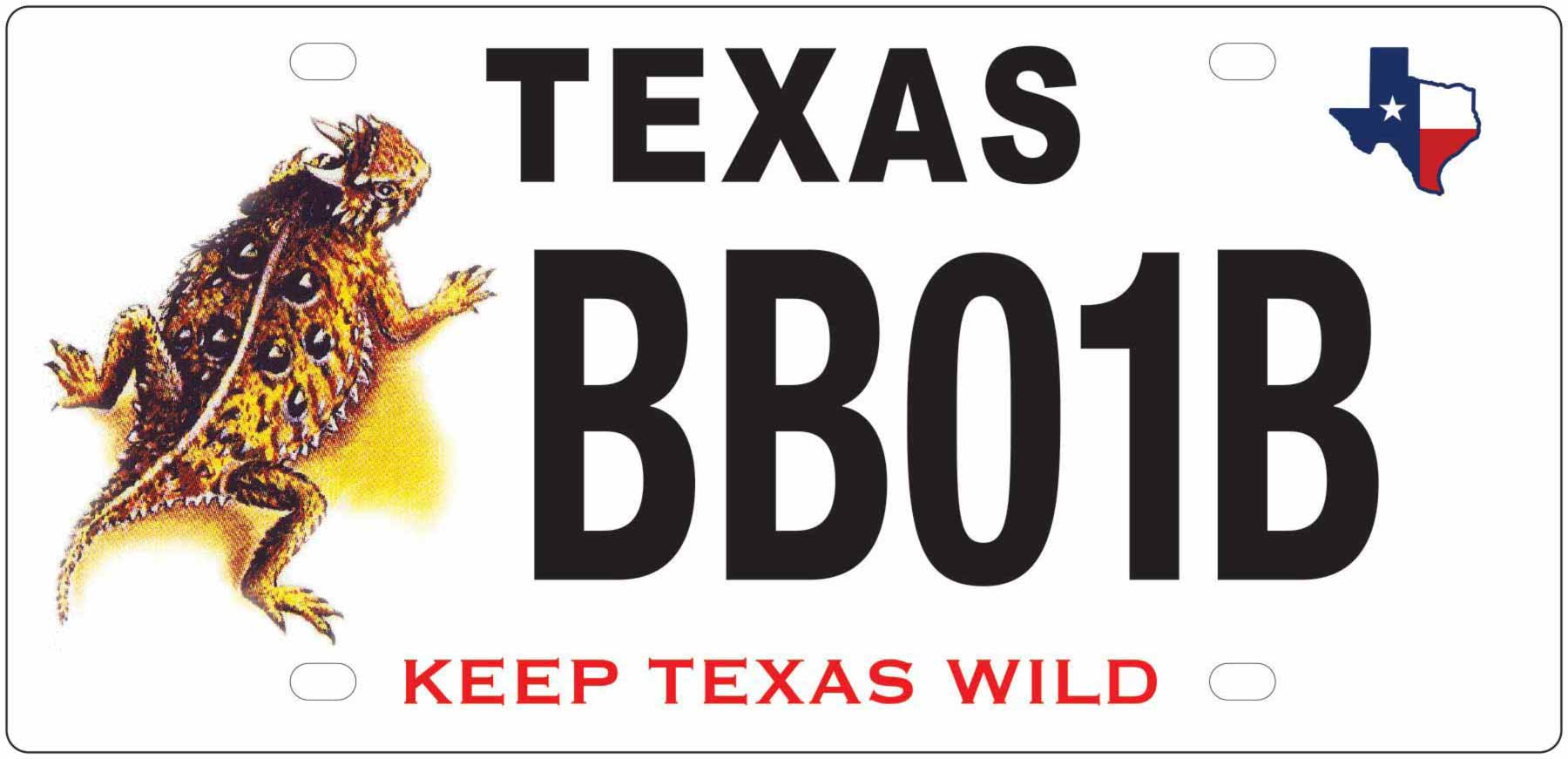 Texas Horned Lizard License Plate