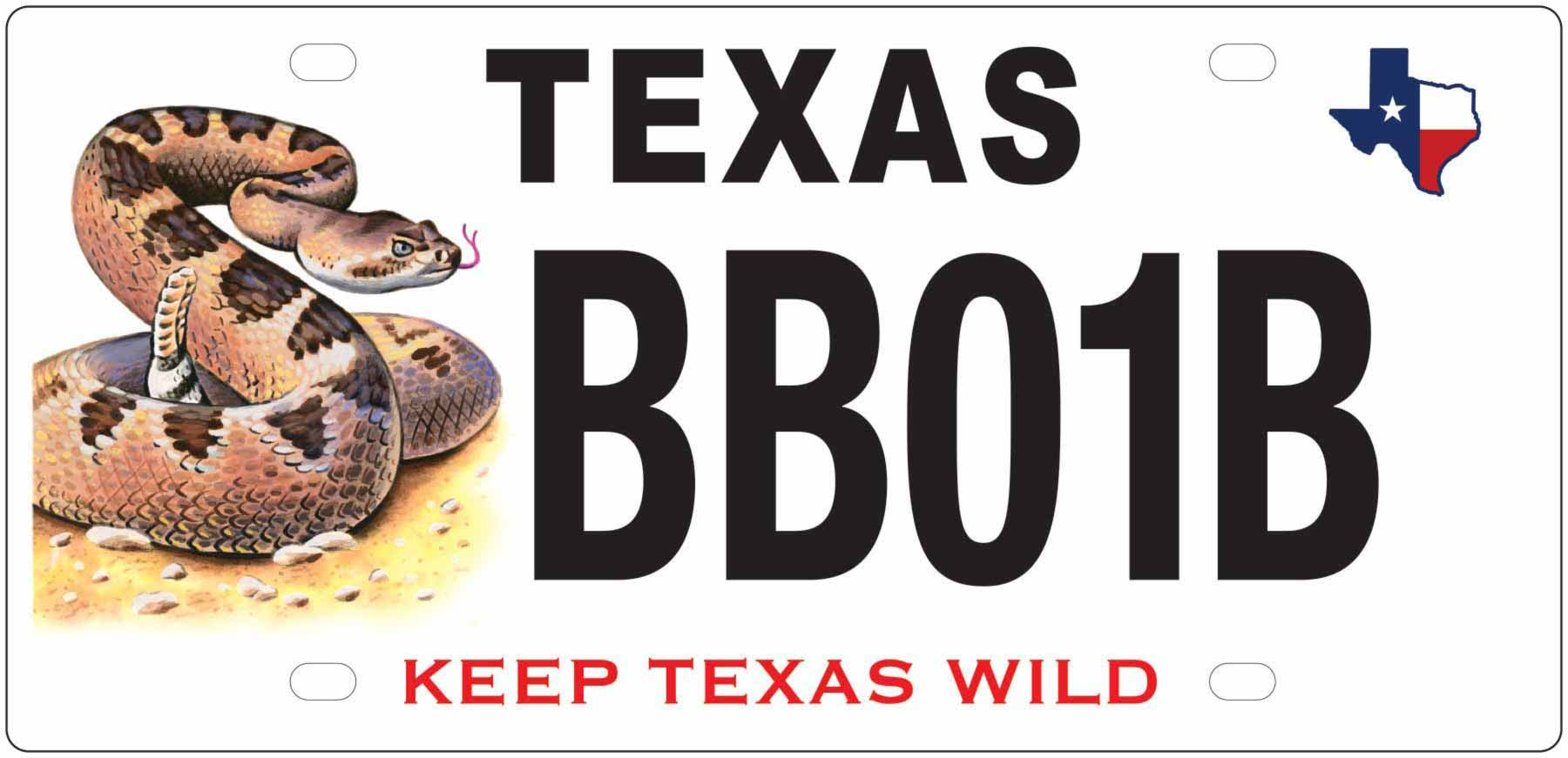 Texas Rattlesnake License Plate